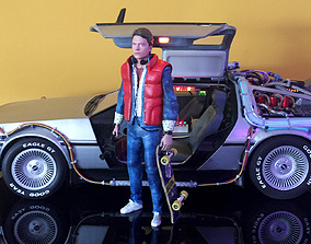 back Marty McFly HQ 3Dprint 1-8 Scale or 1-6 Scale