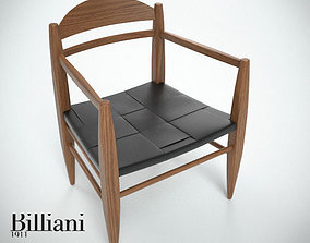Billiani Vincent VG lounge chair teak 3D