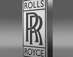 3D model RollsRoyse logo