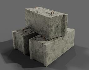 Concrete block scan 3D model