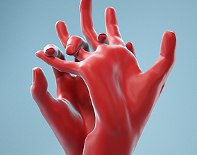 Pulling Back Realistic Hands Model 20