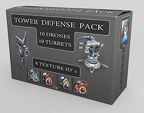3D model game-ready Tower Defense Pack