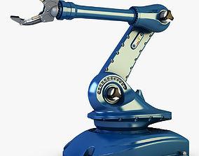Industrial robot blue v 2 3D model