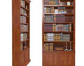 VICTORIAN BOOKCASE IN WALNUT 3D model