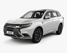 3D Mitsubishi Outlander PHEV with HQ interior 2015