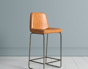 3D model lounge-chair Leather Bar Stool