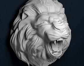 Growling lion 3D print model