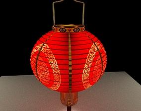 lantern Chinese Red Lantern 3D model