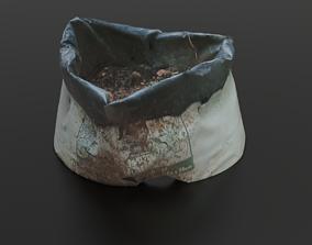 3D model Photoscanned Growbag free plastic plant pot