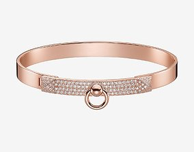 Hermes collier de chien diamond bracelet 3D print model