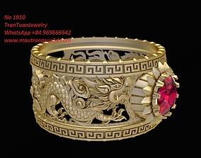 1910 Luxury Korean Dragon Ring 3D printable model