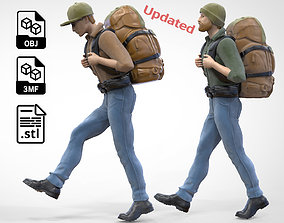3D print model N2 Hiker 1 64 Miniature Walking and