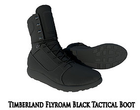 3D model Timberland FlyRoam Black Tactical Boot