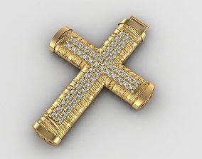 3D printable model Greek pendant cross 15 curch jesus 2