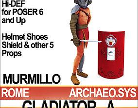 3D Roman Gladiator Murmillo Props Poser Daz
