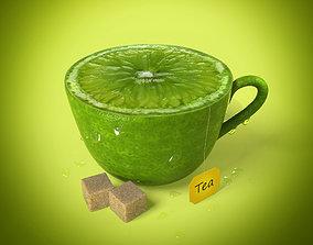 3D model Lemon Cup of Tea