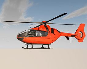 3D model Helicopter With Rotating Blades