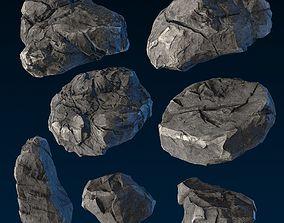 3D asset Big Chunky Rocks Pack - Game-Ready