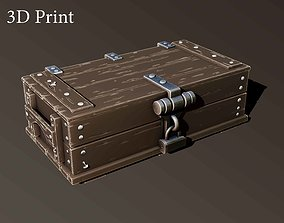 3D print model wooden box