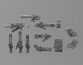 Greater Good crisis ranged weapon bits 3D printable model