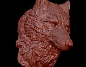 3D print model wolf head1