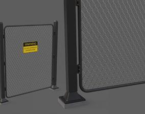game Fence 3D asset realtime