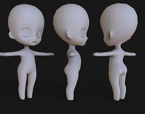 3D Chibi Base Mesh