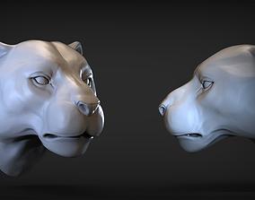 Puma head 3D printable model