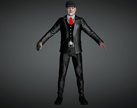 OLD MAN ANIMATED CHARCATER 3D model