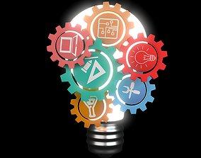 light bulb- idea-intro 3D asset