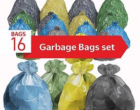 Garbage Bags set 16 3D model