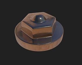 metal bolt head 3D model
