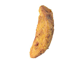 Photorealistic Fried Potato Wedge 3D Scan 2