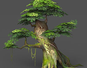 3D model Game Ready Low Poly Tree 02