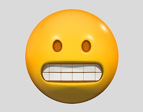 3D model Emoji Beaming Face with Smiling Eyes