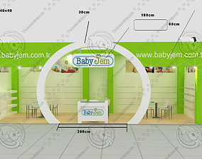 3D model babyjem exhibition stand design