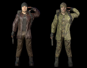 3D model Survivor Supplier - army and civilian