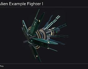3D model Ankla Alien Modular Fighter Kit