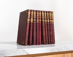 Set of classic books 3D