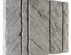3D Slab stone wall n2