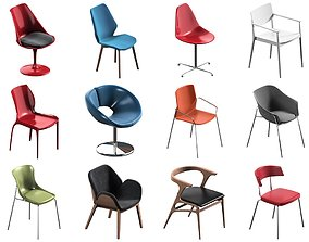12 Chair Pack Collection 3D