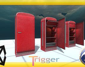 Old fridge 3D Unity 5 game-ready