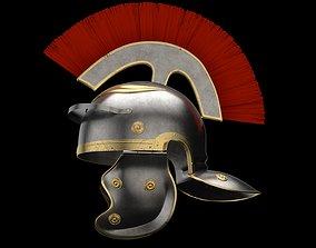 3D asset realtime Roman legionnaire helmet