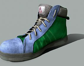 human Boot 3D model low poly low-poly