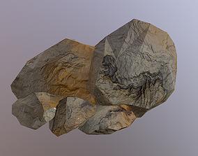3D model Low Poly Sand Rocks 2