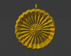 Lover Sun Necklace Pendant 8 3D printable model