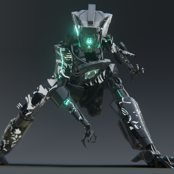 """Jackal"" Scifi Robot"