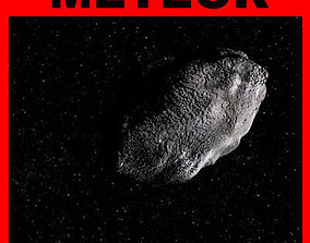 animated Awesome METEOR - 3d model