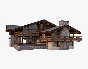 European Chalet House Villa 3D model