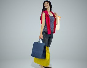 Casual Smiling Woman Shopping CWom0318-HD2-O01P01-S 3D